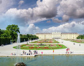 Schoenbrunn Palace with Great Parterre — Stock Photo
