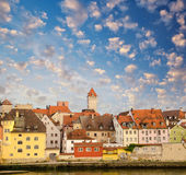 Regensburg medieval skyline — Stock Photo