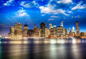Manhattan skyline from Brooklyn — Stock Photo