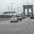 Cars approach Brooklyn Bridge — Stock Photo #42755007