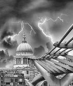 Millennium Bridge - London — Stock Photo