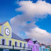 Homes of caribbean island — Stock Photo
