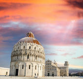 Pisa Baptistery - Miracles Square — Stock Photo