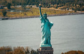 Aerial view of Statue of Liberty — Stock Photo