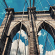 Brooklyn Bridge Center Pylon — Stock Photo