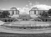 Trocadero Gardens and Architecture — Stock Photo