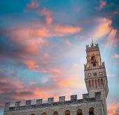 Palace Vecchio in Signoria square - Florence — Stock Photo