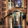 Bridge of Sighs at night — Stock Photo