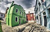 Färgglada hem från burano — Stockfoto