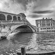 Fisheye view of Rialto Bridge — Stock Photo