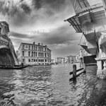 Fisheye view of Rialto Bridge — Stock Photo #44852023