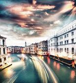 Grand canal bij zonsondergang — Stockfoto