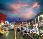 Canal grande i solnedgången — Stockfoto