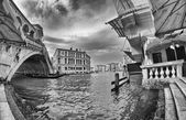 Fisheye view of Rialto Bridge — Stok fotoğraf