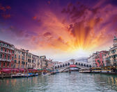 Terrific view of Rialto Bridge — Stock Photo