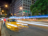 Taxi lights in New York City — Stock Photo
