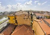 Pisa. ancient homes. — Foto Stock