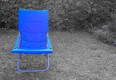 Blauwe stoel — Stockfoto