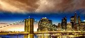 纽约城-曼哈顿天际线 — 图库照片