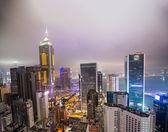 Hong Kong skyscrapers lights — Stock Photo