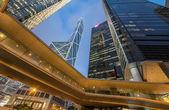 Hong Kong streets cape at night. — Stock Photo