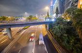 夜に香港市内の交通 — ストック写真