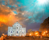 Ruined church of St Paul in Macau. — Stock Photo