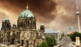 Berlin Cathedral and Alexander Platz — Stock Photo