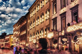 Lungarni in Pisa during San Ranieri Luminaria — Stock Photo