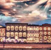 Pisa, Luminaria night show with Lungarni — Foto Stock