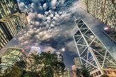Modern night city skyline — Stock Photo
