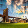 Manhattan from Brooklyn Bridge Park. — Stock Photo