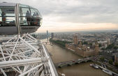 London Eye Cabin and cityscape. — Stock Photo