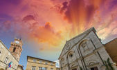Pienza, old medieval square — Stock Photo