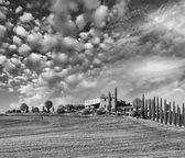 Tuscany - Landscape panorama — Stock Photo