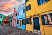 Venice landmark, Burano island canal — Stock Photo