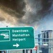 Heliport sign in Downtown Manhattan — Stock Photo #47863555