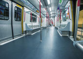 MTR train interior — Foto de Stock