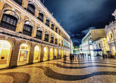 Senado Square lights at night — Stock Photo