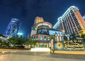 Macau strip with casinos light — Stock Photo