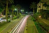 City streets of Kos Island at night — Stock Photo