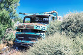 A rusty truck vehicle parked — Stockfoto