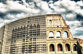 The Colosseum in Rome restore works — Stock Photo