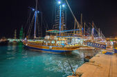 Typical wooden daily boats trip — Stok fotoğraf