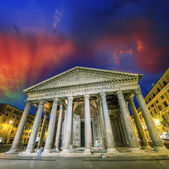 Rome. Panteon landmark at night — Stock Photo