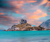 View on small island of Kastri near Kefalos town, Kos island (Gr — Stock Photo