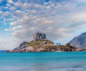 View on small island of Kastri near Kefalos town, Kos island (Gr — Stock Photo
