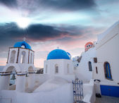 Beautiful homes of Oia, Santorini — Stock Photo