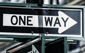 One Way street sign in New York — Stock Photo