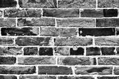 Brick wall background or texture. Front view with gray color lev — 图库照片